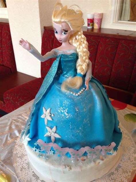 elsa frozen princess doll birthday cake kids parties pinterest birthday cakes elsa