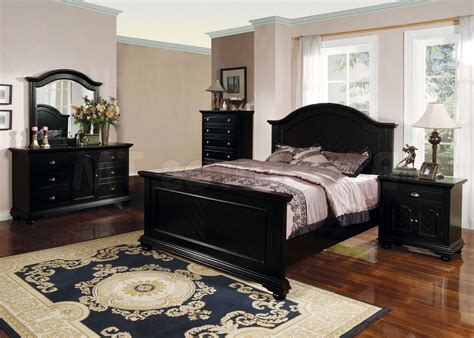 home design ideas for decorating a bedroom with black