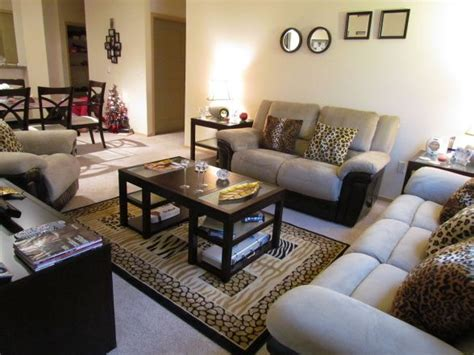 Leopard Print Rug Living Room by Living Room Accented With Cheetah Print Throw Pillows And