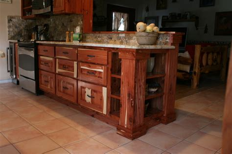 feay cedar kitchen project rustic kitchen austin