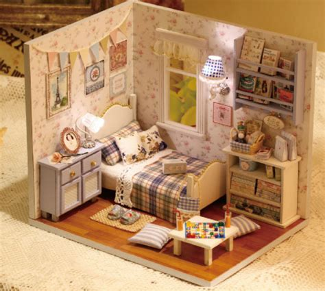 Handmade Dolls House Miniatures - items similar to light up dollhouse miniature bedroom