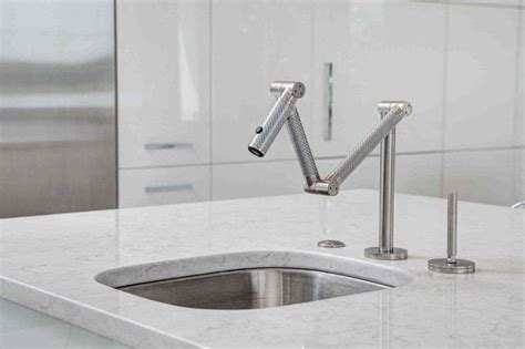 articulating kitchen faucet kohler karbon articulating deck mount kitchen faucet