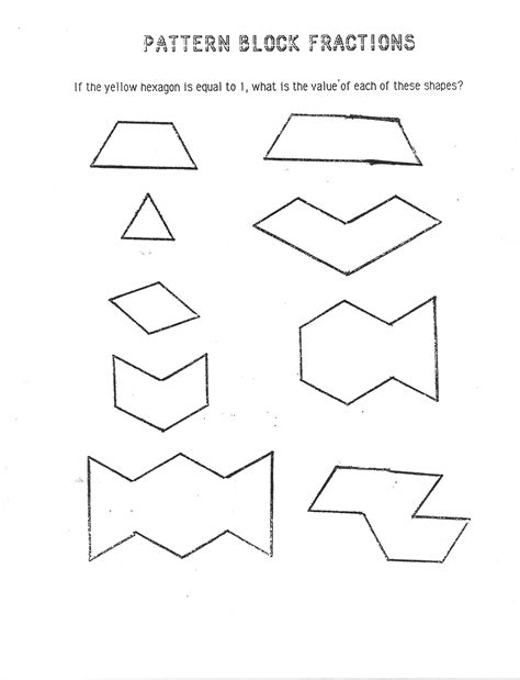 pattern block math worksheets worksheets pattern blocks worksheet opossumsoft