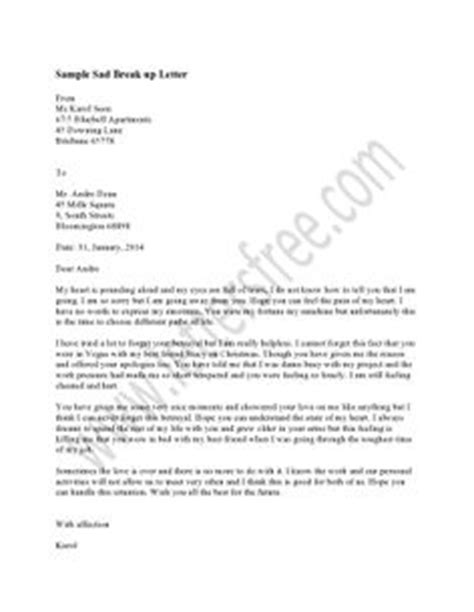 breakup letter to him 1000 images about sle up letter on