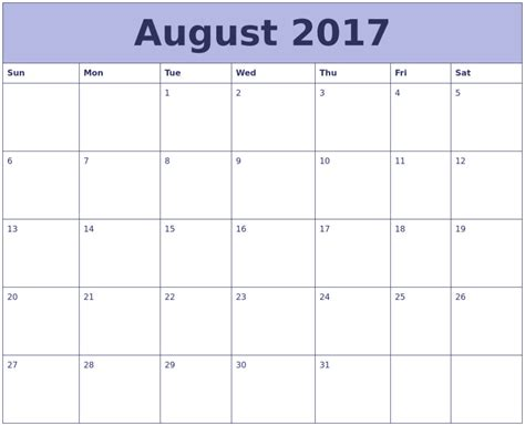 printable calendar 2017 excel august 2017 calendar excel calendar template letter