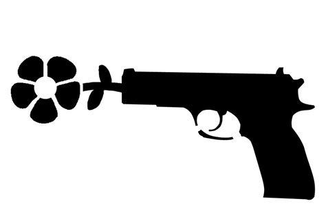 printable gun stencils flower gun stencils pinterest guns and stenciling