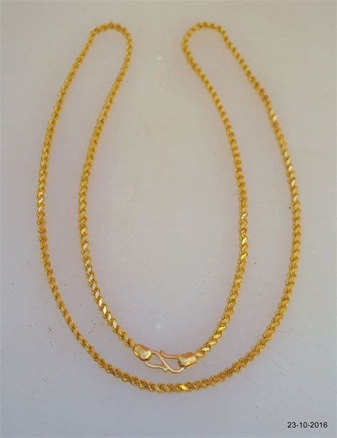 Handmade Gold Chain Designs - traditional design 20kt gold chain necklace handmade gold