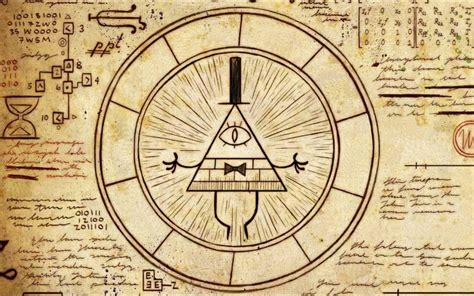 gravity falls bill cipher wheel illuminati windows 10 theme themepack me