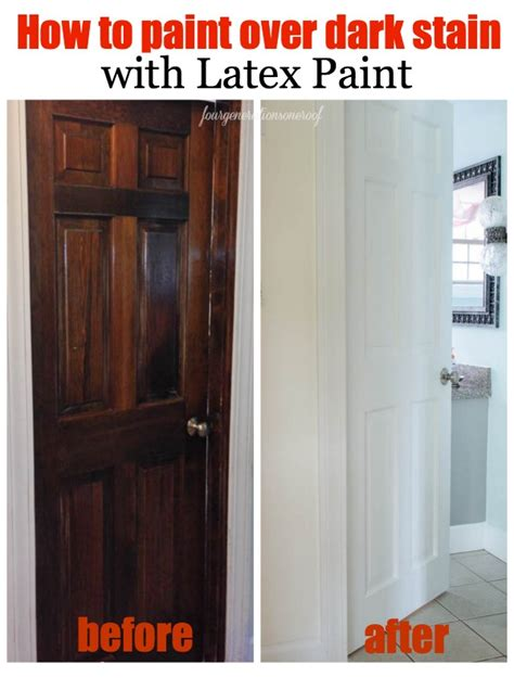 how to paint stained doors before after four