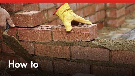 how to build a brick wall diy at bunnings