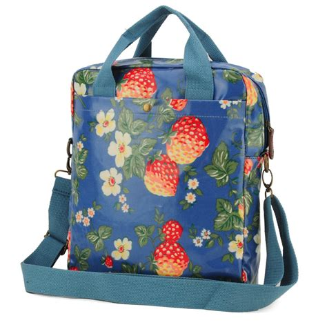 light blue crossbody bag out of stock light blue strawberry printing oilcloth