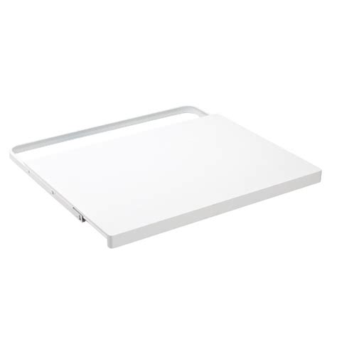 Elfa Corner Shelf by White Elfa D 233 Cor Gliding Shelf The Container Store
