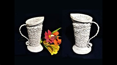 Make Vase by How To Make Flower Vase From Newspaper Best Out Of Waste