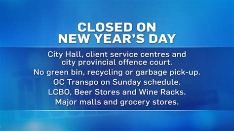 open on new year s day what s open and closed on new year s day ctv ottawa news