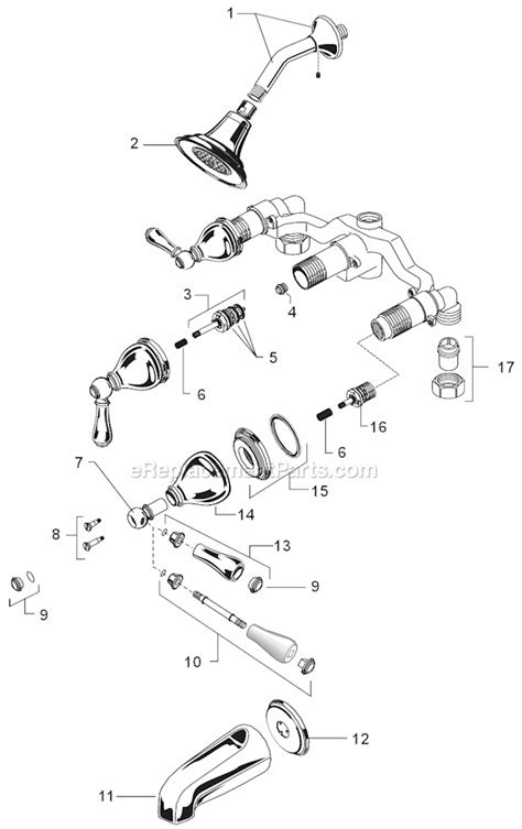 american standard 4005f parts list and diagram american standard 1043 222 parts list and diagram