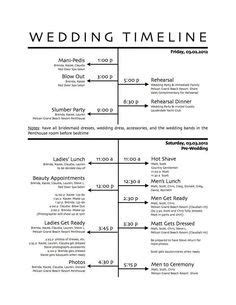 Backyard Wedding Day Timeline 1000 Ideas About Wedding Reception Timeline On