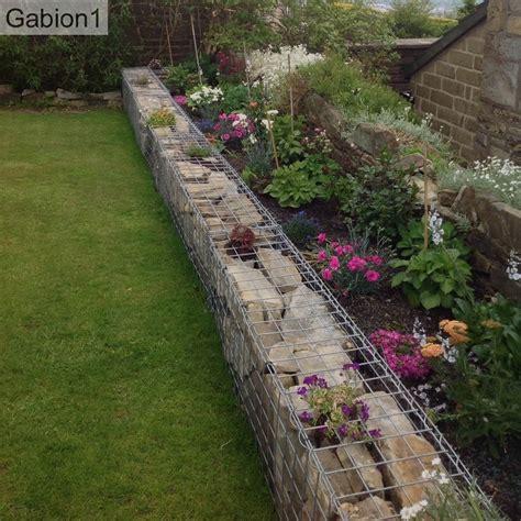 gabion garden border wall using 450mm x 300mm thick