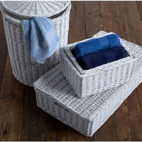 White Willow Laundry Basket Sierra Laundry Delightful Willow Laundry