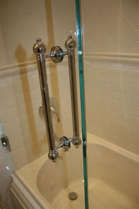 Shower Door Pull Handle Custom Shower Pulls Polished Nickel The Architectural Hardware