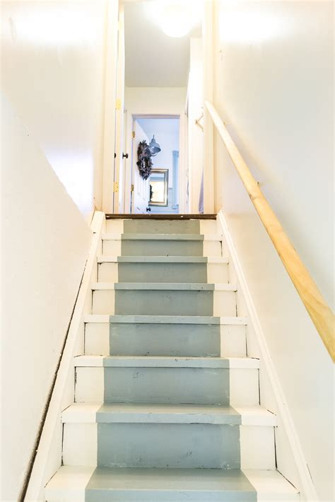 how to paint basement stairs the weathered fox