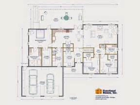 Handicap Home Plans by 3 Bedroom Wheelchair Accessible House Plan Work In