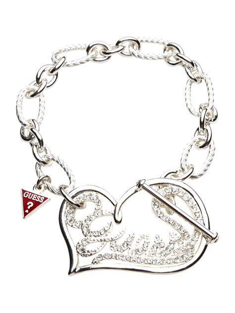 Guess Open heart logo bracelet   review, compare prices, buy online