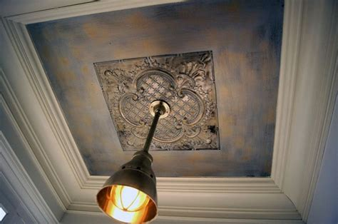 hand painted tin ceiling medallion tile and tin pinterest