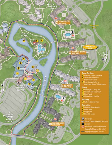 port orleans riverside map 2013 port orleans riverside guide map photo 4 of 4