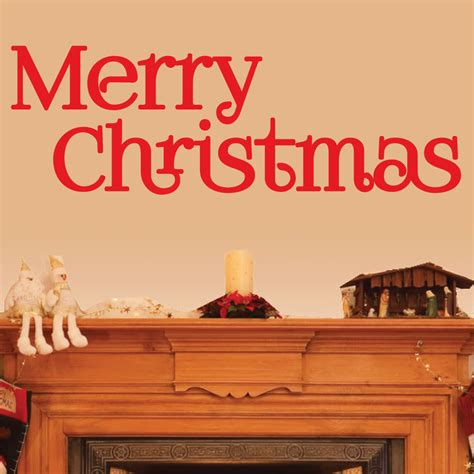 merry wall stickers decor wall decal 0020 merry decor