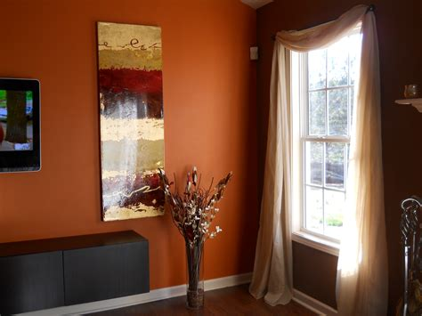 brown walls living room living room chocolate brown walls with copper orange