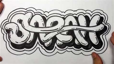 draw graffiti letters write sarah  cool letters