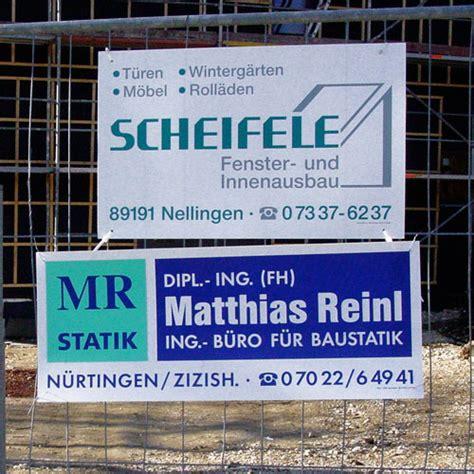 Bauschild Klein by Einweg Schilder Bauwerbung Kurz