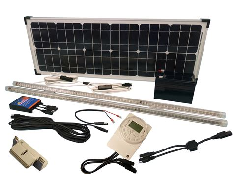 solar powered chicken coop light solar 32w poultry coop lighting kit at the incubator shop