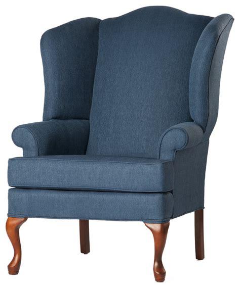 Blue Wingback Chair by Wingback Chair Denim Blue 28x35x42