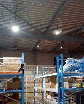 eclairage entrepot eclairage led entrepot de stockage et atelier de chaudronnerie