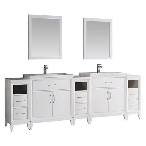 96 sink vanity top fresca cambridge 96 in vanity in white with porcelain