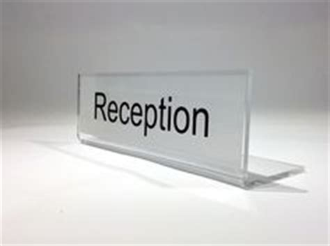 reception desk signs freestanding desk signs on office desks
