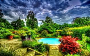3d garden hd wallpapers