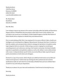 write a cover letter internship covering letter example