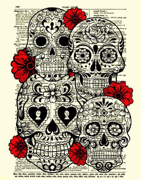 Skull Collage Design Outline by Sugar Skull Sugar Skull Collage By Reimaginationprints On Etsy 10 00 Skullz More