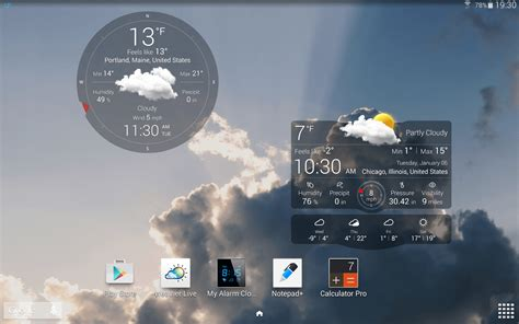 weather widget android how to show weather forecasts for locations in android tip reviews news tips and