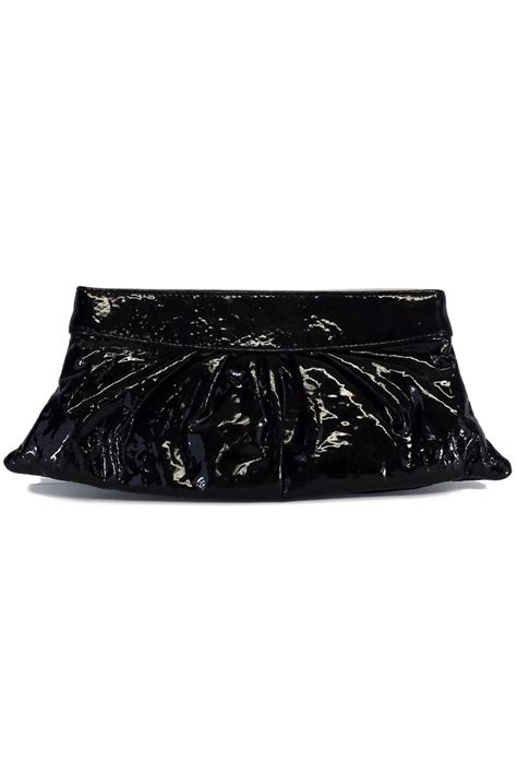 Merkin Patent Clutch by Merkin Black Patent Leather Clutch Current Boutique