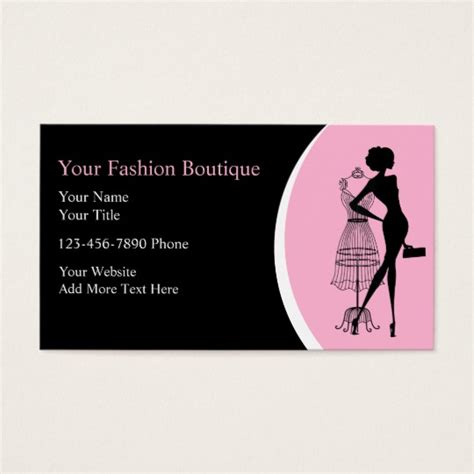 Business Card Design For Clothing Store