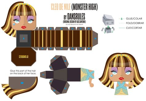 Papercraft Monsters - cleo de nile high mini papertoy by dansr by