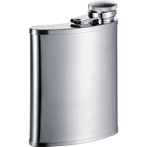 visol bass wide silver satin stainless steel 7 oz hip flask vf1172 the home depot