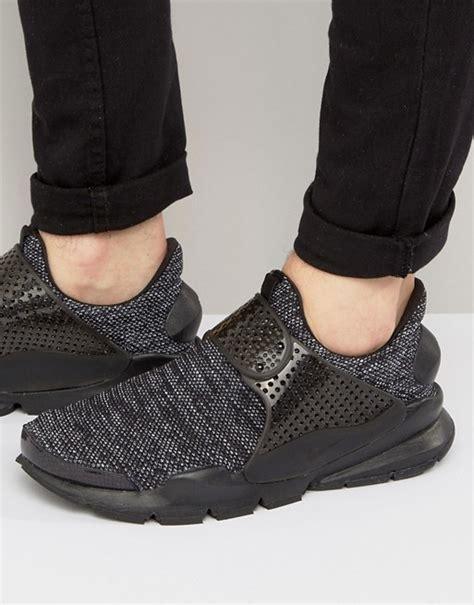 Nike Sockdart Breathe Black Grey 1 nike nike sock dart breathe trainers in black 909551 001