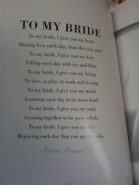 to my poem to my poem could be used for the groom s vows