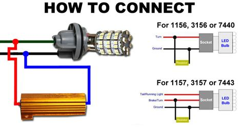 how to wire resistors 2x load resistors led bulbs turn signal light blink flash fix ebay