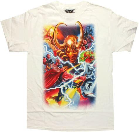Kazel Tshirt Burger Edition Large thor marvel 75th special edition alex ross t shirt