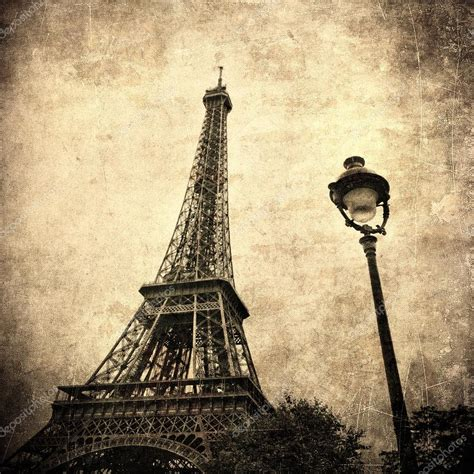 i vintage vintage image of eiffel tower stock photo